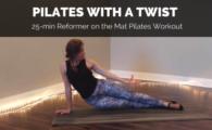 reformer on the mat pilates video