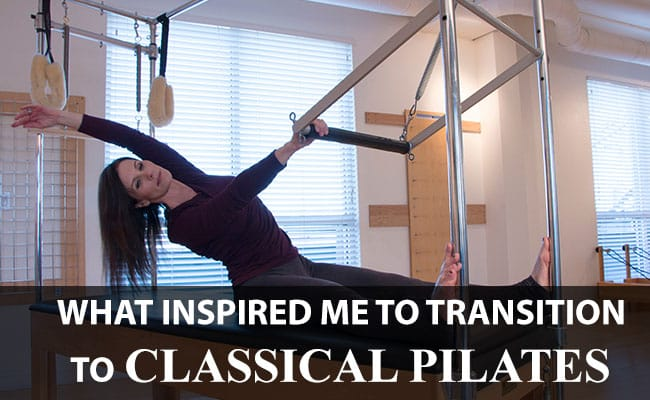 Laura Cotler doing Pilates on the Trapeze Table/Cadillac