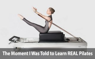 Susannah Cotrone doing teaser on Classical Pilates Reformer by Gratz