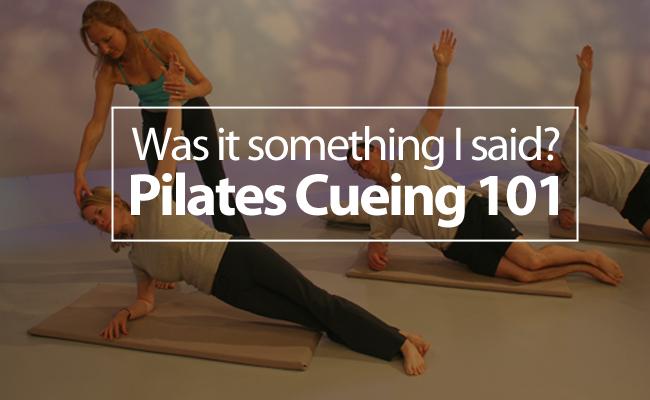 pilates cueing