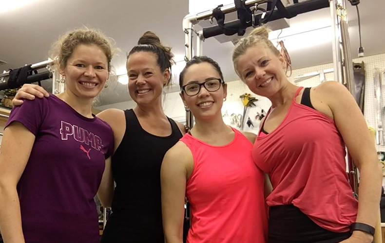 pilates teachers after a great workout together