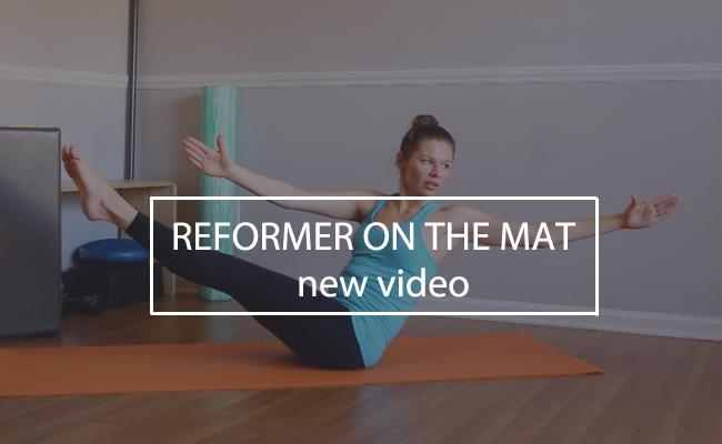 reformer on the mat workoutt