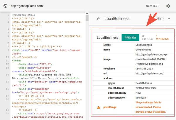 website with schema markup