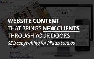 SEO copywriting for Pilates studio websites